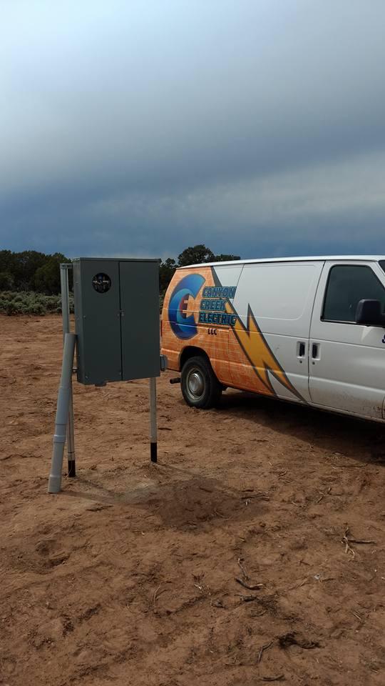 Canyon Creek Electric's Company Van