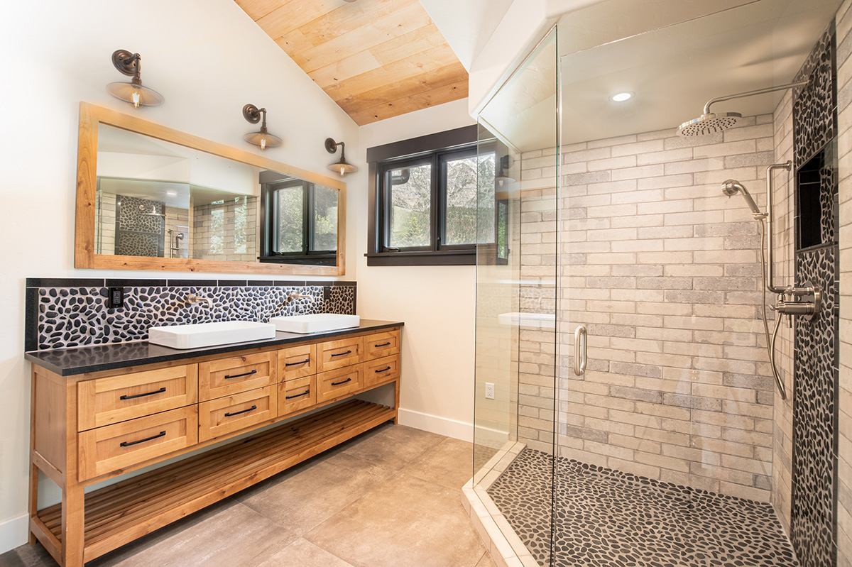 fixtures of custom bathroom by canyon creek electric